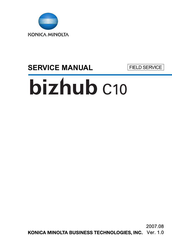 konica minolta bizhub c10 field service service manual Bizhub Printer Sticker Bizhub C25